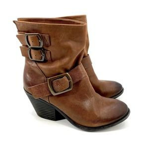 Lucky Brand Brown Leather Ankle Boots 8.5